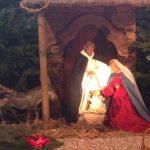 Krippe in St. Andreas Stall und Geburt