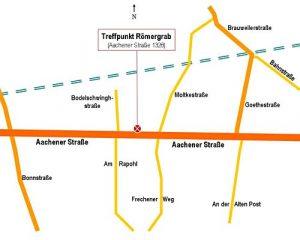 Zeichnung Treffpunkt Römergrab, Köln-Weiden
