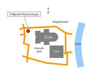 Zeichnung Treffpunkt Römertorbogen