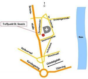 Zeichnung Treffpunkt St. Severin