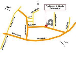 Zeichnung Treffpunkt St. Ursula