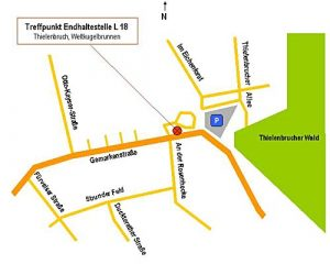 Zeichnung Treffpunkt Endhaltestelle 18